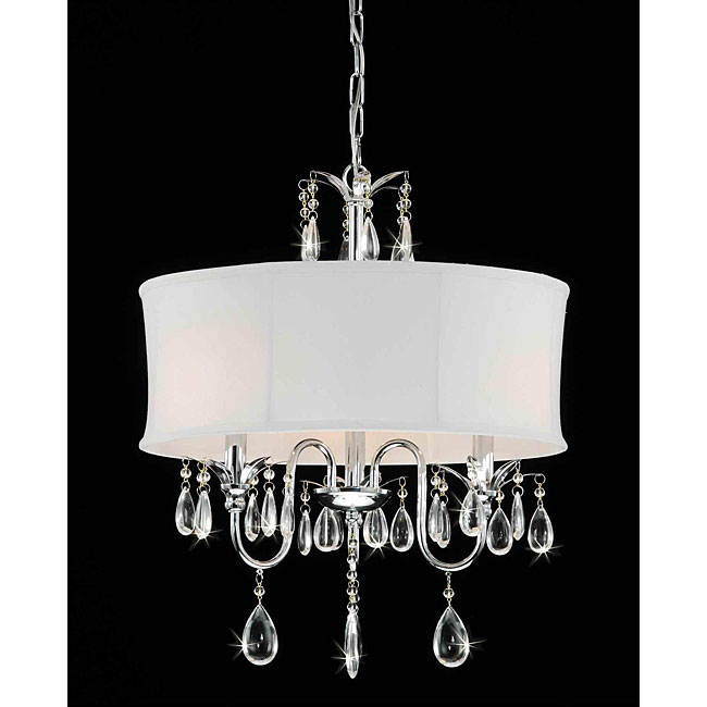 Designed To The Nines Fridays Frivolty Drum Shade Chandeliers - Chandelier with shades and crystals