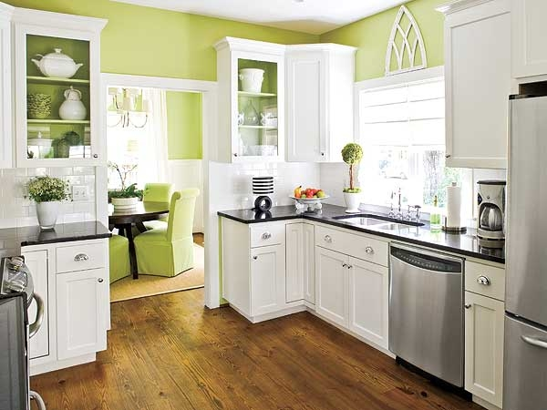 Designed to the nines my favorite kitchen classic white for Lime green kitchenware