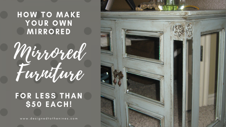 Make Your Own Mirrored Furniture!