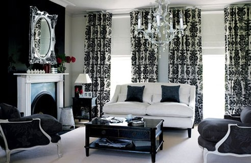 Designed to the nines fun new ways to use traditional damask for Laura ashley living room ideas