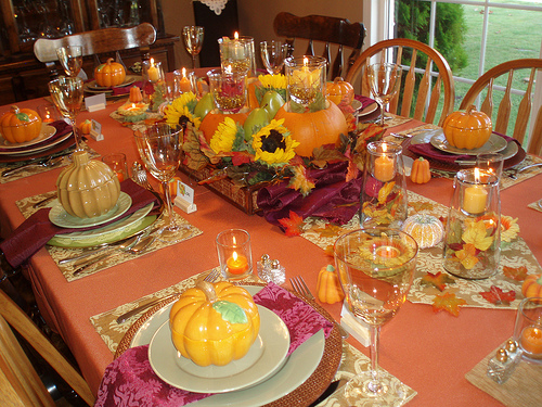 Designed to the nines last minute thanksgiving table ideas for Ideas table decorations thanksgiving dinner