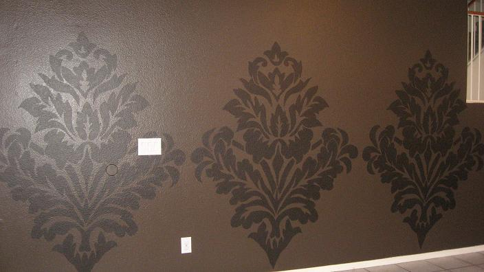 Designed To The Nines Oversized Damask Wall Mural