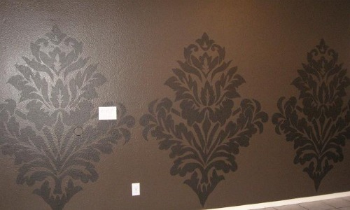 Oversized Damask Wall Mural