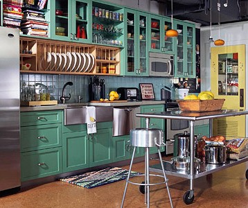 Green Painted Kitchen Cabinets designed to the nines | trend watch: fresh colors for painted cabinets