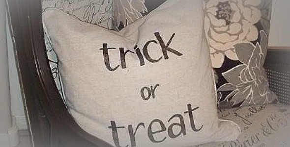 Simple, But Chic Trick or Treat Pillow