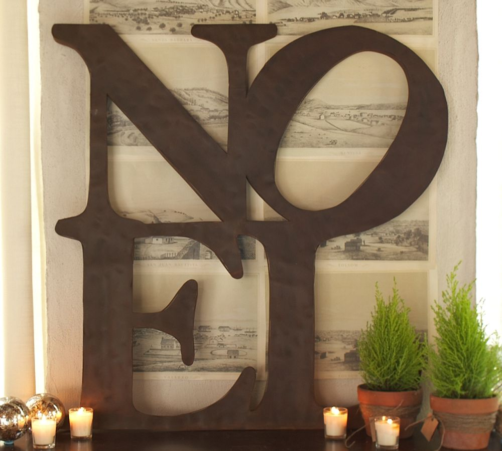 Designed To The Nines Pottery Barn Quot Noel Quot Sign Knock Off