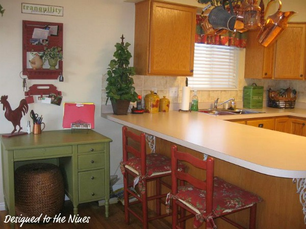 Red Country Kitchen : Red Country Kitchen : Green and Red Country Kitchen
