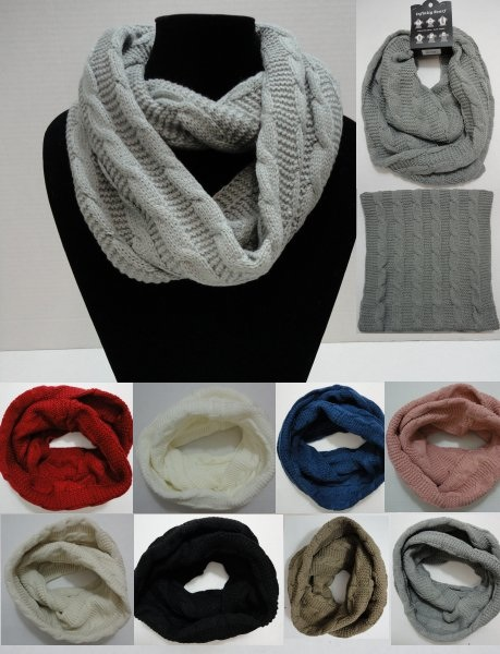 Cream Cable Knit Infinity Scarf