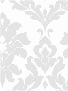 gray and white damask wallpaper