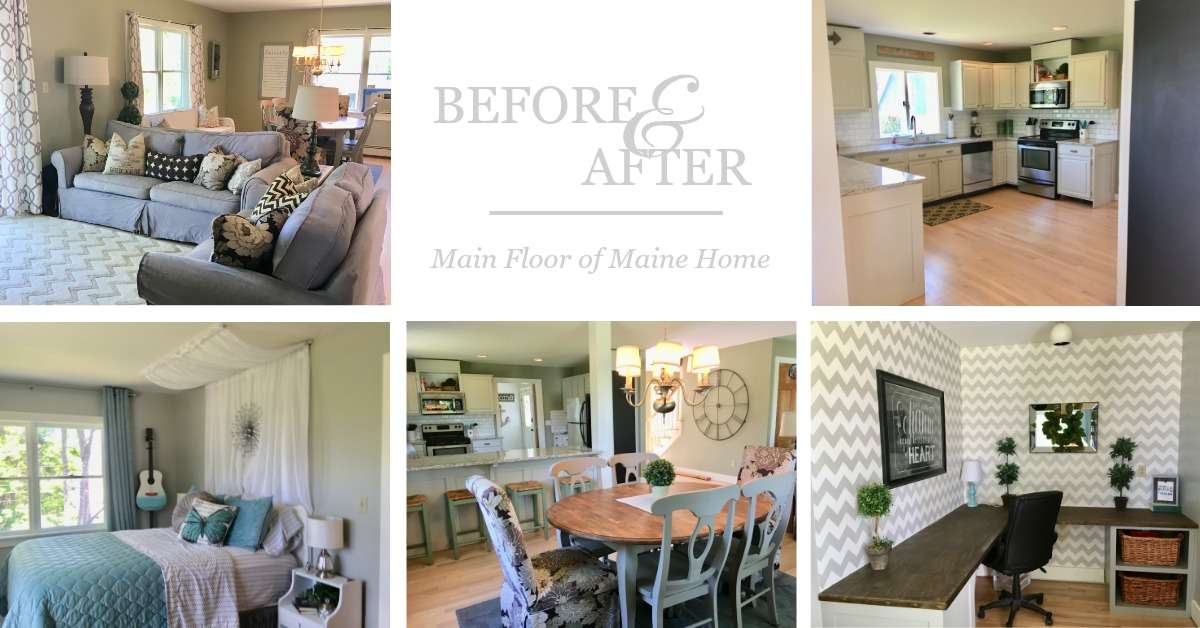 Before and After: Main Floor Maine Home, Part 1