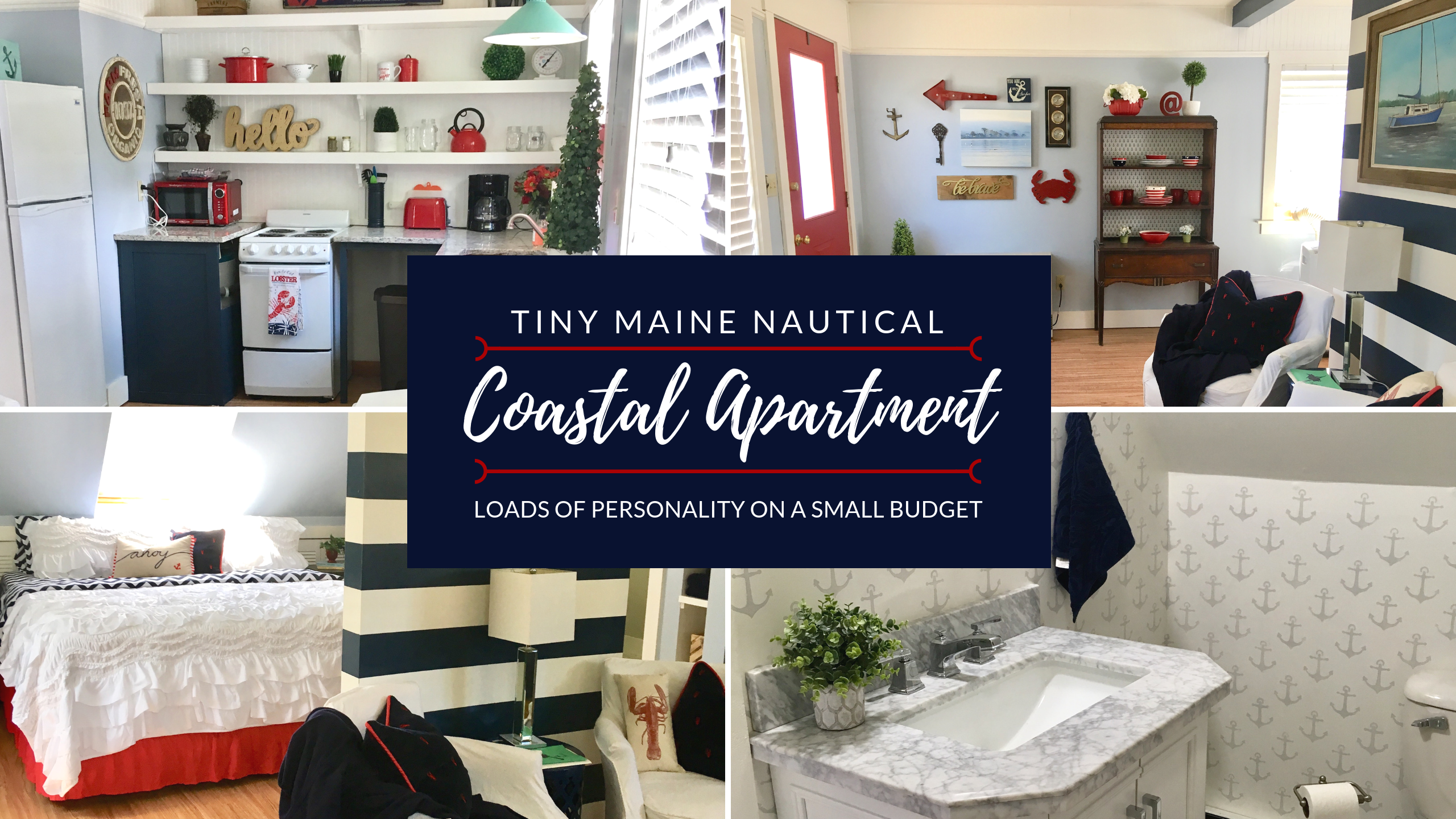 Our Tiny Coastal Maine Retreat: Nautical Style on a Budget