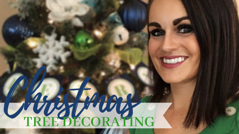 Christmas Tree Too Short? Decorating a Christmas Tree and Adding Height + Free Printable