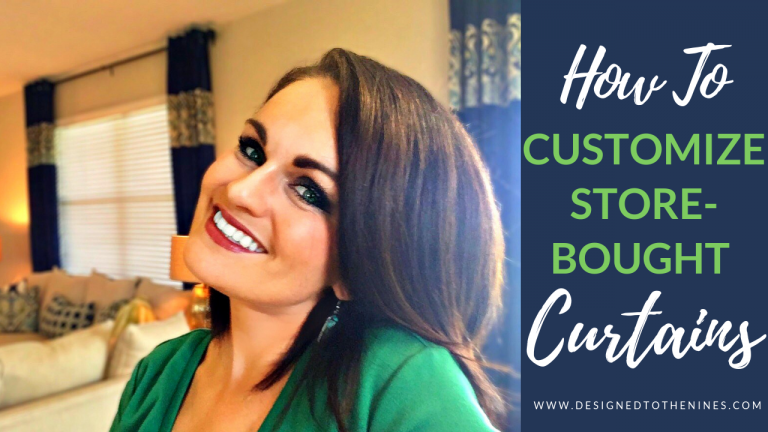 VIDEO TUTORIAL: How to Customize Store-Bought Curtains