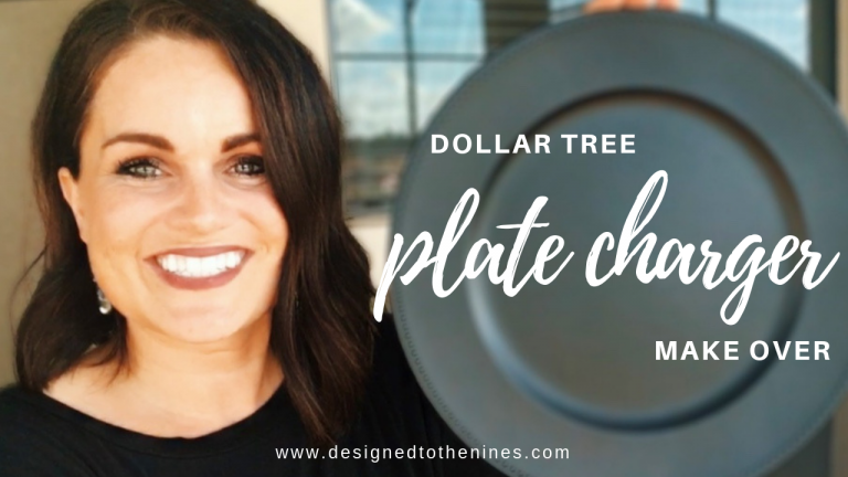 How to Customize a Dollar Store Charger to a Chalkboard Plate Charger Tutorial