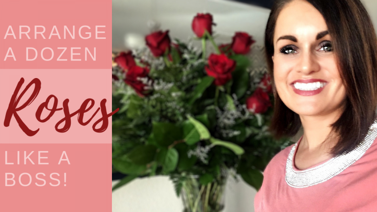 Arrange a Dozen Roses Like a Boss (Great How-To For Valentines)