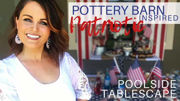 Patriotic Party Ideas for Memorial Day or 4th of July | Pottery Barn Look Alikes | Red, White, and Blue Decor Ideas